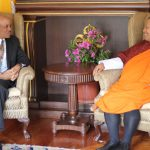 Mark Pierce RD Plan and Chief Advisor Interim Government Bhutan during the official Call on