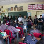 SAIEVAC Child Board Members and delegation on a school visit