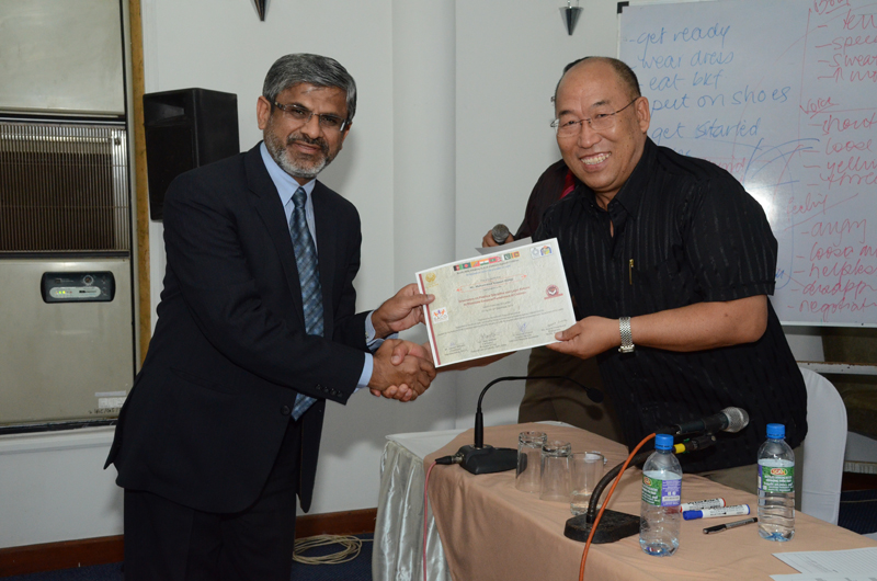 Certificates being awarded